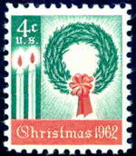first christmas postage stamp