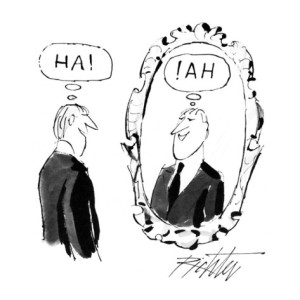 mischa-richter-man-looking-in-mirror-and-saying-ha-and-in-the-mirror-is-the-reflection-new-yorker-cartoon