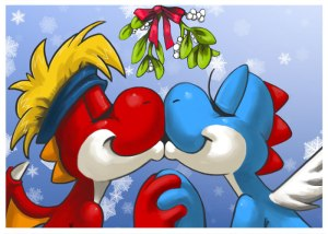 Mistletoe_Kiss_by_bittenhard