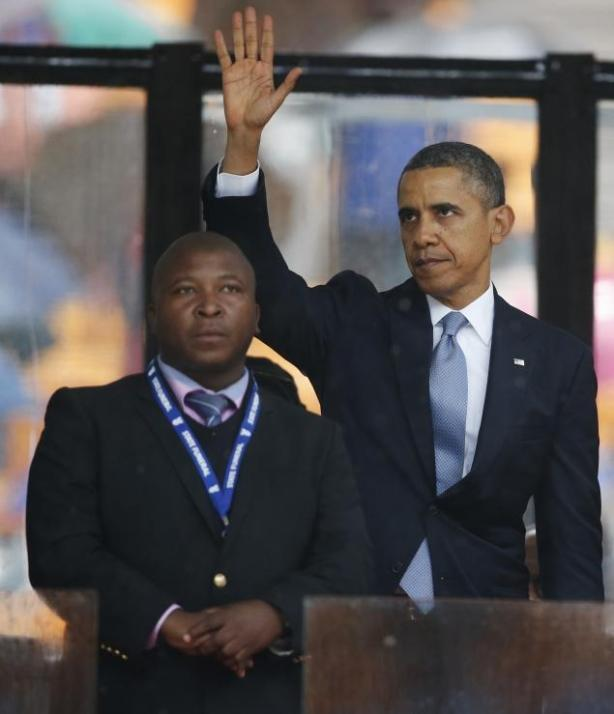 Obama with interpreter who can't interpret