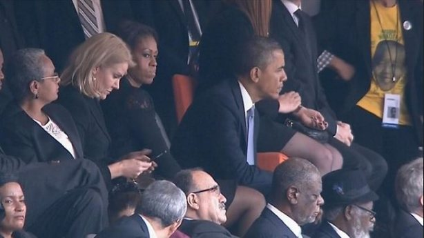 Obama with new seating arramgement