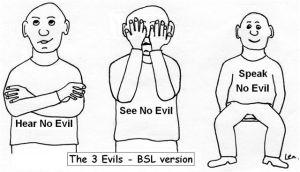 The Three Evils from grumpuoldeafies.com