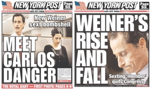 Weiner Scandal Headlines