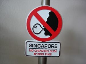 Singapore gum sign