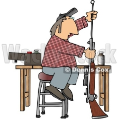 man-cleaning-inside-the-barrel-of-his-unloaded-rifle-gun-clipart-by-dennis-cox-at-wackystock