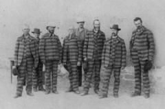 men wearing striped suits
