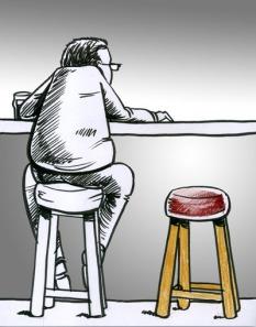in bar