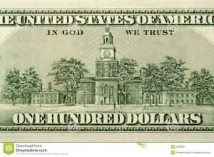 $100 bill back