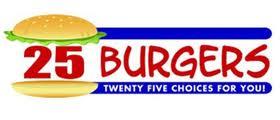 25 burgers logo