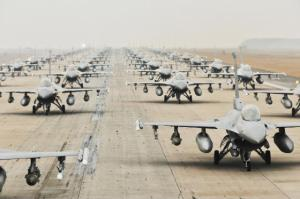 just some of the US Air force planes