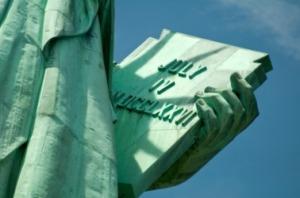 Statue of Liberty's tablet