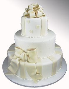 top layer of a wedding cake