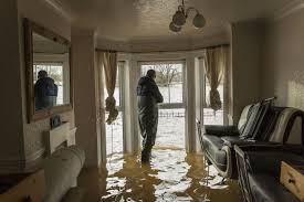flooded front room crying