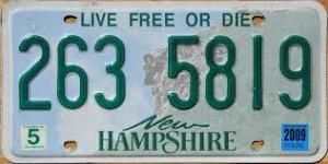 New Hampshire license plates