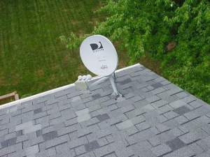 satellite dish on the house