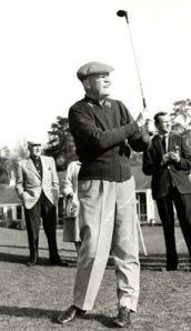 Eisenhower playing golf
