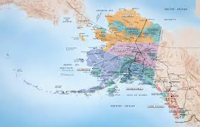 map Alaska and Russia