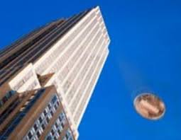Dropping a penny from the top of the Empire State Building