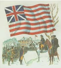 Gen George Washington hoisted the Continental Union Flag