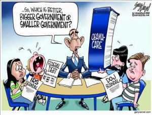 obama cartoon big government