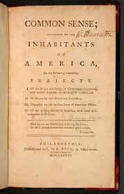 pamphlet Common Sense by Thomas Paine