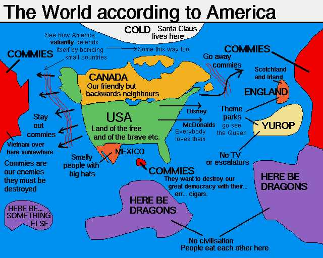 The world according to America