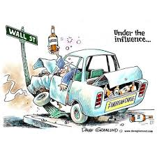 wall street car crash