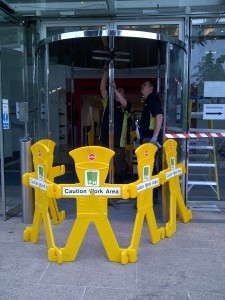 Revolving door overhaul and repair