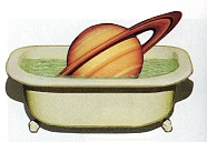 saturn in a bathtub