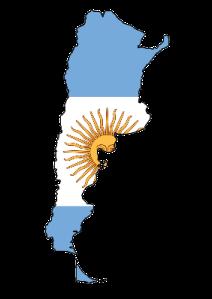 argentina-flag-map