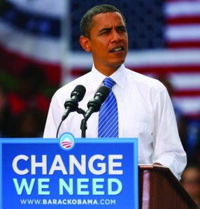 Barrack Obama during his first Presidential election campaign