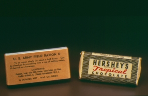 Chocolate was included in WWII soldier rations