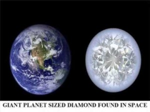 planet sized diamond found in galaxy
