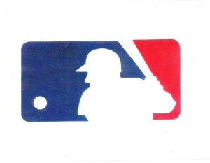 silhouette on the Major League Baseball logo
