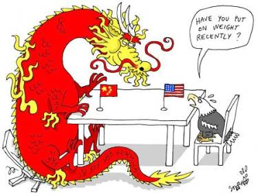 Image result for caricature u.s. and china