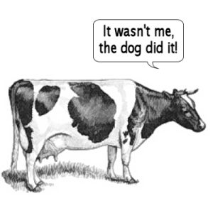 cow-farts the dog did it
