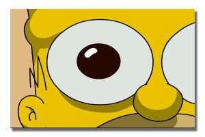 The Simpsons Homer Dilated Pupil
