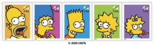 United States Postal Service Department of Philatelic Fulfillment Simpsons stamps