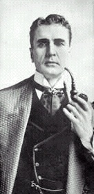 William Gillette as Sherlock Holmes, with Calabash pipe
