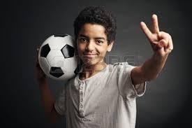 boy with foorball