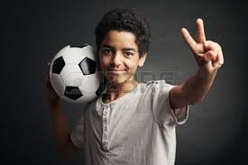boy with foorball