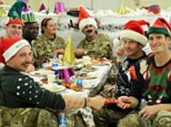 British armed forces Christmas dinner