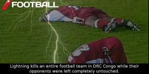 lightning instantly killed a whole soccer team