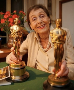 Luise Rainer with oscars