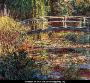 Monet - Water-Lily-Pond--Symphony-In-Rose