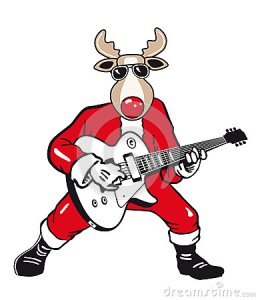 rockstar-reindeer-cartoon-45903867