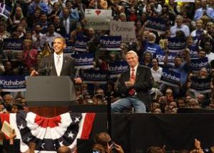 Barack Obama at a campaign event in Beaverton, Oregon