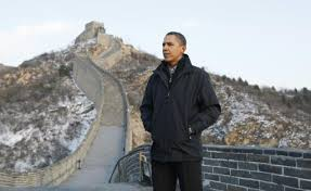 barack obama great wall of china