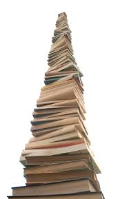 huge tower of books