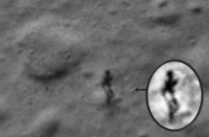 image of humanoid on Moon